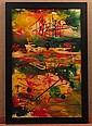 Joseph Meierhans (1890-1981), Abstract Oil Textured  Painting