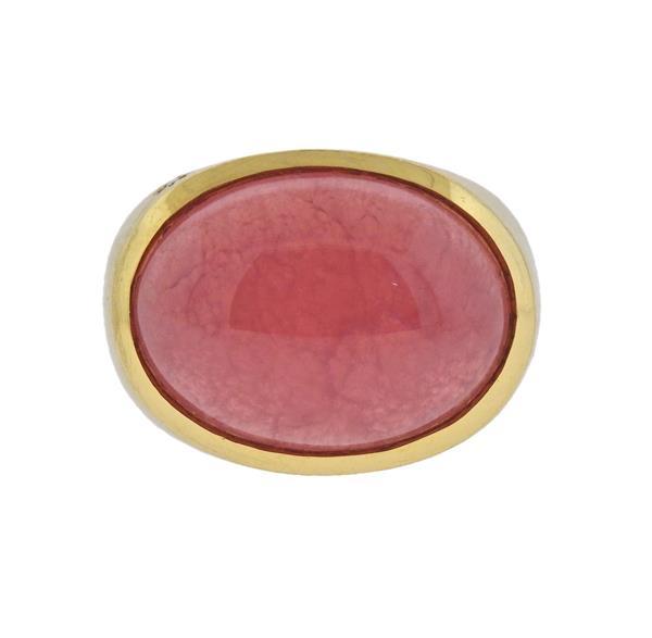 H. Stern 18K Gold Pink Gemstone Ring