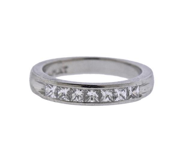 Platinum Diamond Half Band Ring