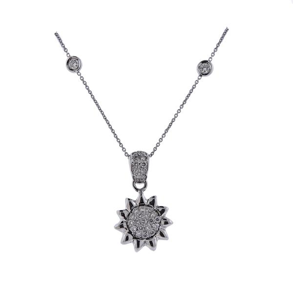Roberto Coin 18K Gold Diamond Sun Pendant Necklace
