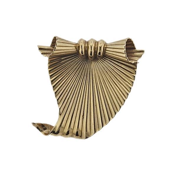 Cartier Mid Century 14k Gold Brooch
