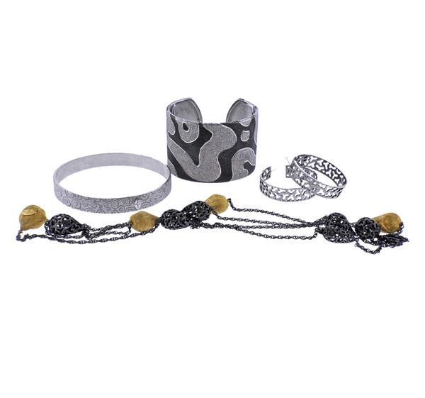 Alex Soldier Sterling Silver Bracelet Earrings Necklace Lot