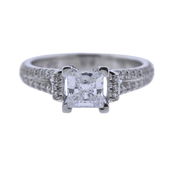 MIchael M. 18K Gold Diamond Engagement Ring Seeting