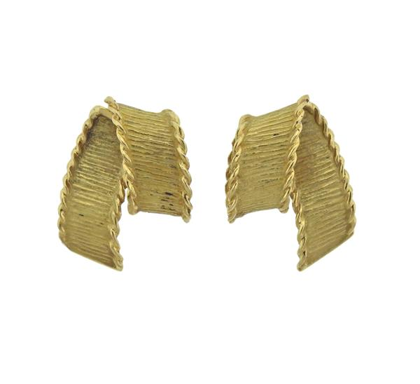 1980s Tiffany & Co 18K Gold Earrings