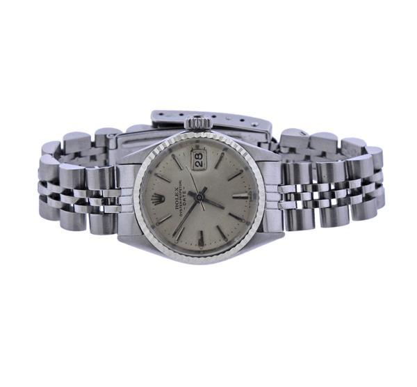 Rolex Date Stainless Steel Watch 6517
