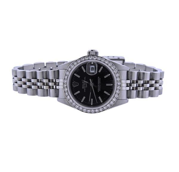 Rolex Oyster Perpetual Date Steel Diamond Watch 79190