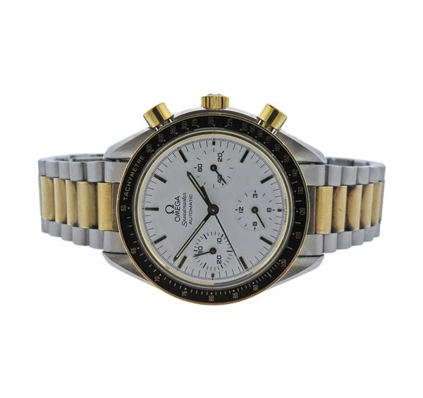 Omega Speedmaster 18K Gold Steel Automatic Chronograph Watch