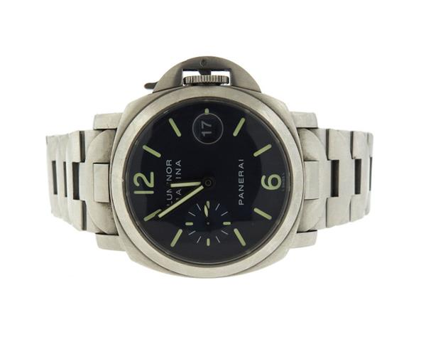 Panerai Luminor Marina Black Dial Steel Watch PAM120