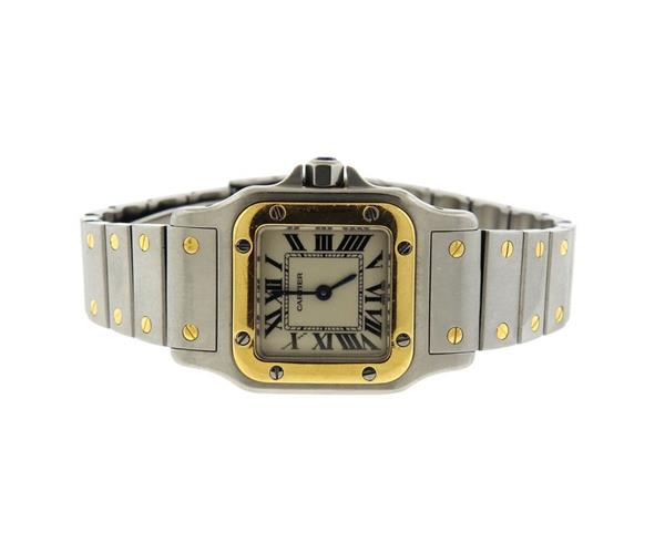 Cartier Santos Stainless 18k Gold Watch