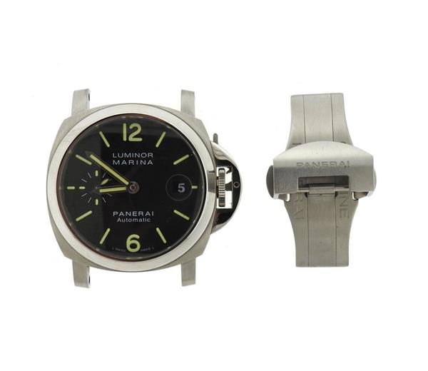 Panerai Luminor Marina Black Dial Steel Watch PAM00048