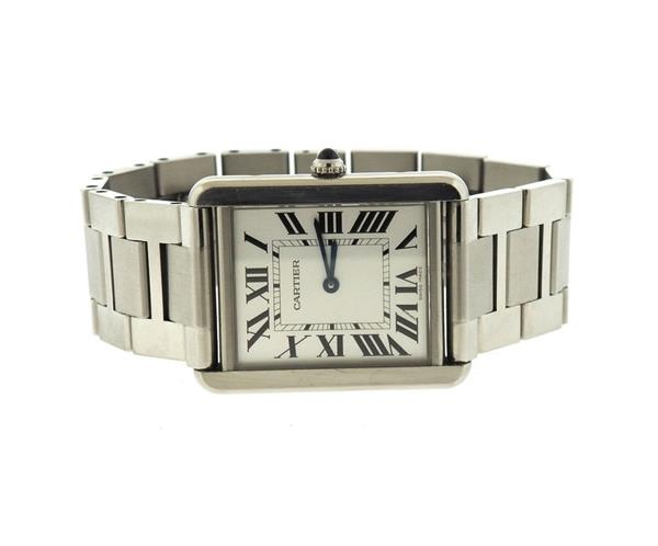 Cartier Tank Stainless Steel Quartz Watch