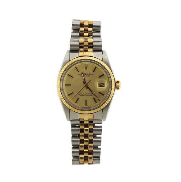 Rolex Datejust 18k Gold Steel Men's Watch 1601