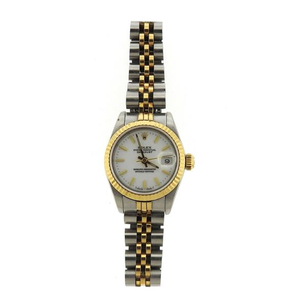 Rolex Datejust 18k Gold Steel Lady's Watch 69173