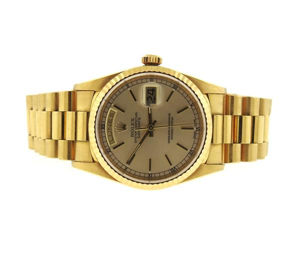 Rolex President Day Date 18k Gold Watch 18238