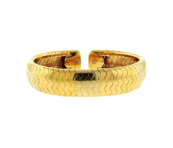 Cartier 18k Gold Cuff Bracelet