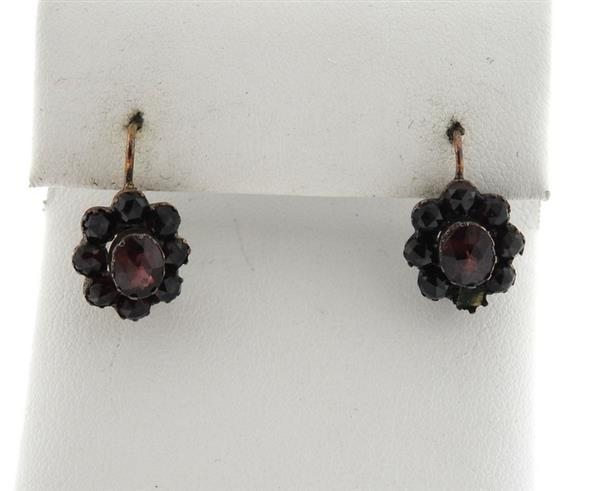 Antique Bohemian Garnet Earrings