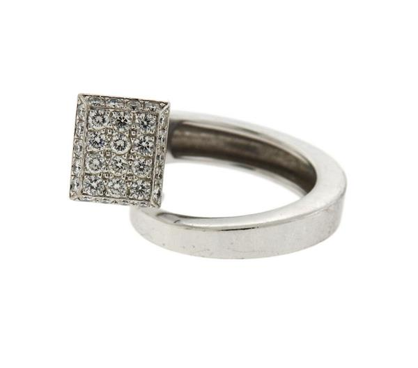 Hermes 18k Gold Diamond Bypass Ring