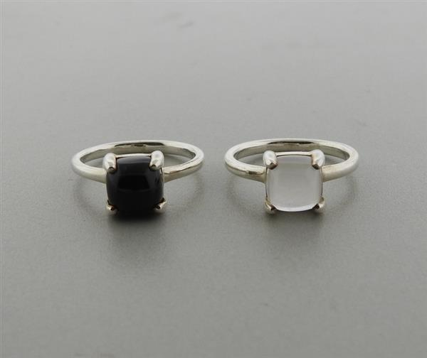 Tiffany & Co Picasso Sugar Stacks Sterling Gemstone Ring Lot of 2