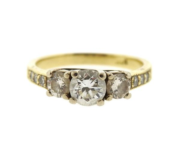 14k Gold Diamond Engagement Ring