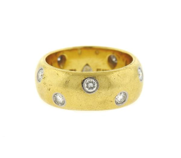 Tiffany & Co Etoile 18k Gold Platinum Diamond Ring