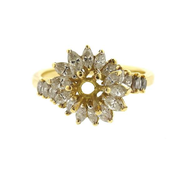 14k Gold Diamond Ring Setting Mounting