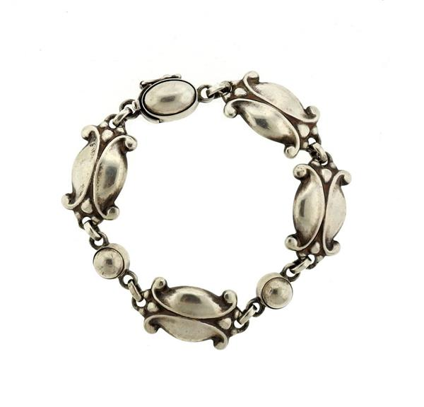 Georg Jensen Sterling Moonlight Blossom Bracelet 11