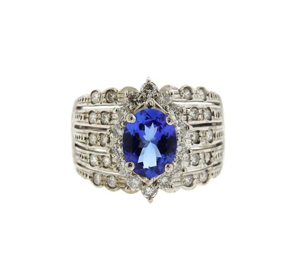 Le Vian 18K Gold Tanzanite Diamond Ring