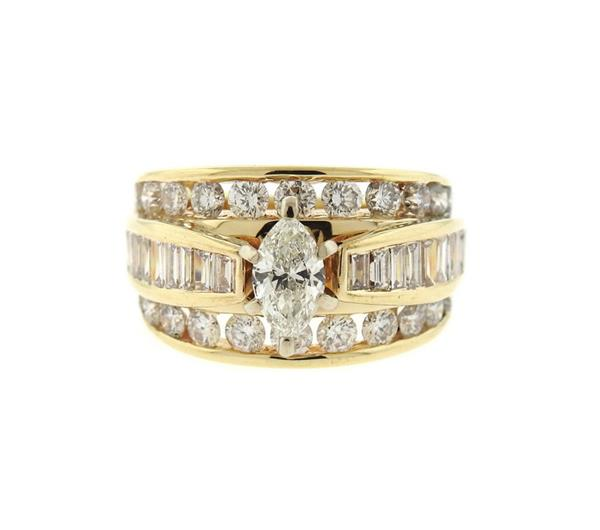 14K Gold 2.73ctw Diamond Engagement Ring