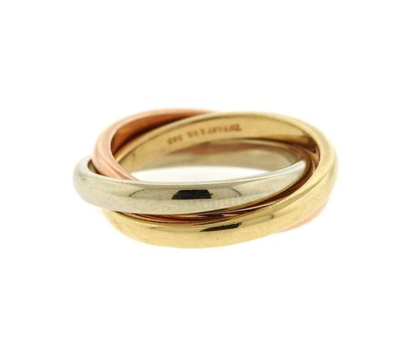 Tiffany & Co 14K Tri Color Gold Band Ring