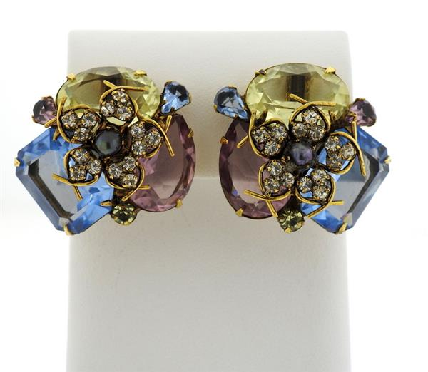Iradj Moini Multi Color Gemstone Earrings