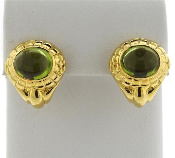 Tiffany & Co 18k Gold Peridot Earrings
