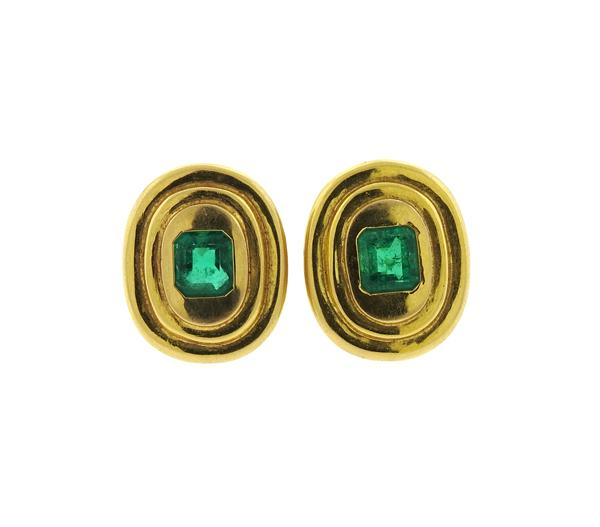 AGL Emerald 14k Gold Earrings