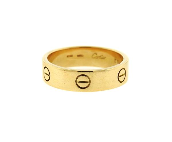Cartier Love 18k Gold Wedding Band Ring Sz 64