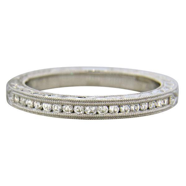 14K Gold Diamond Half Band Wedding Ring