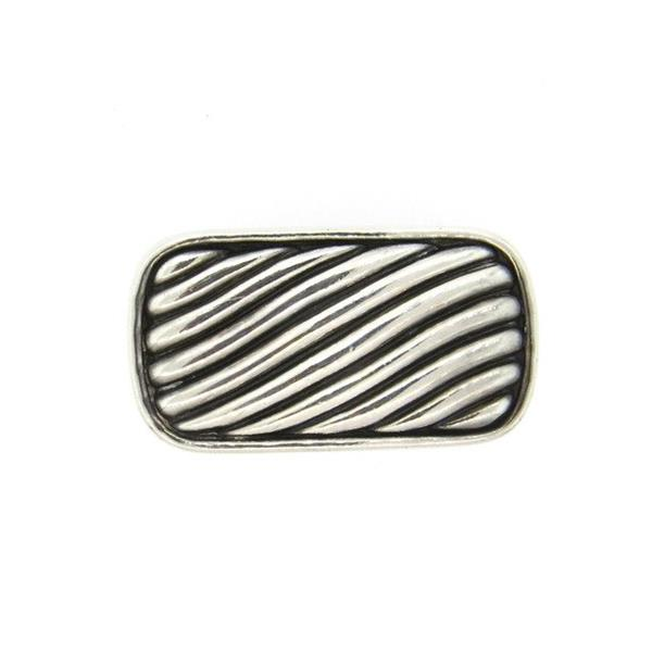 David Yurman Sterling Silver Cable Belt Buckle