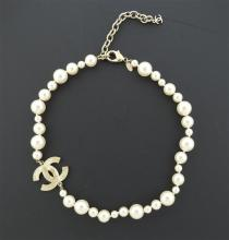 Chanel Pearl CC Pendant Costume Necklace