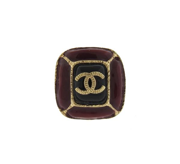 Chanel Costume Enamel Cocktail Ring