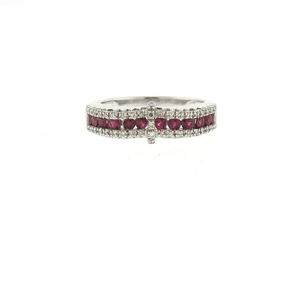 14k Gold Ruby Diamond Ring