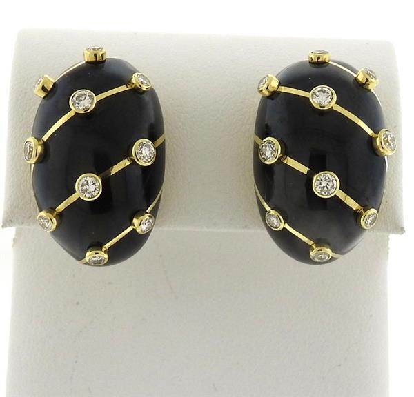 Tiffany & Co Schlumberger Diamond Gold Banana Earrings