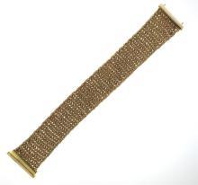 14k Gold Wide Mesh Bracelet