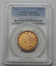 PCGS 1901 Liberty Head 10 Dollar Eagle Gold US Coin