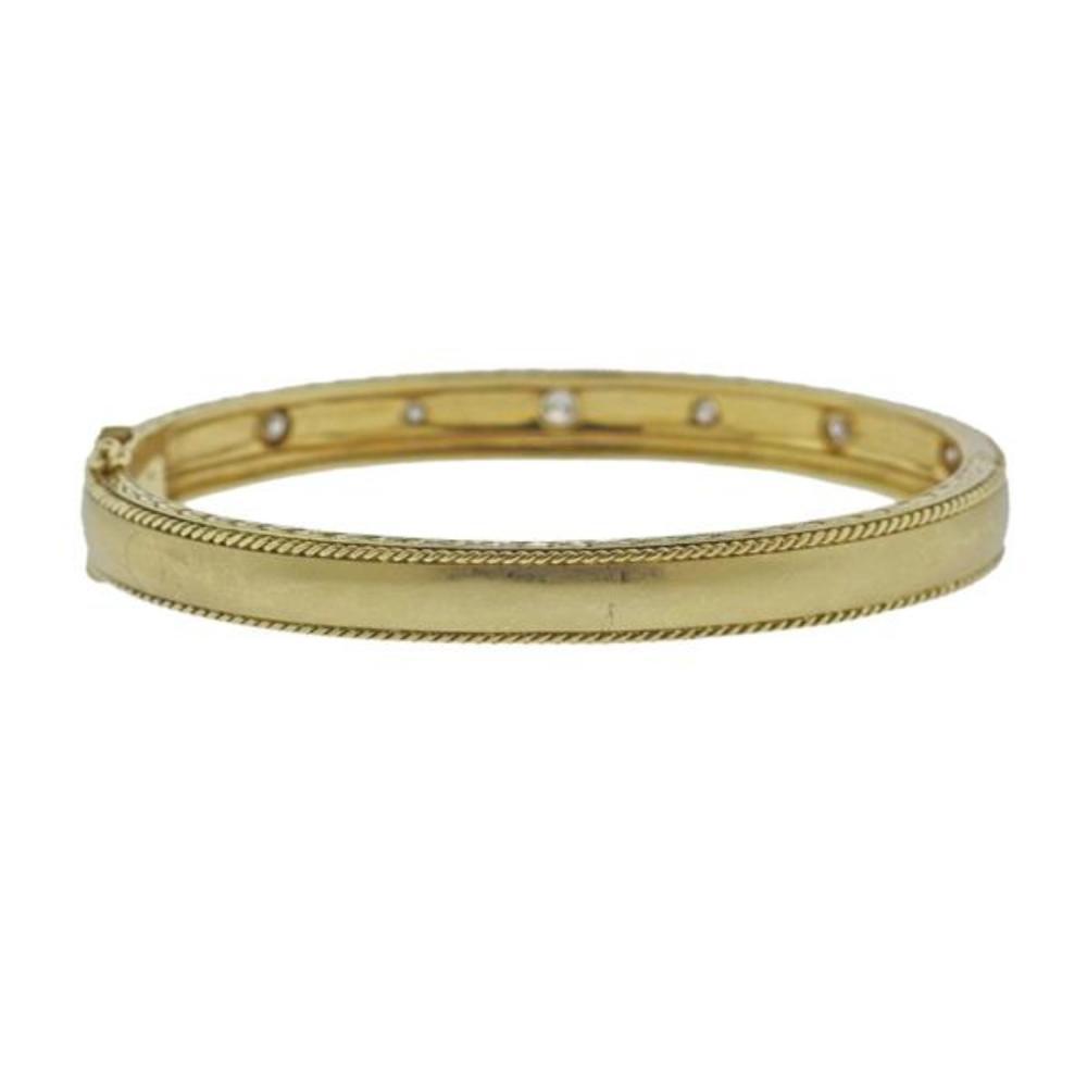 Penny Preville 18K Gold Diamond Bangle Bracelet