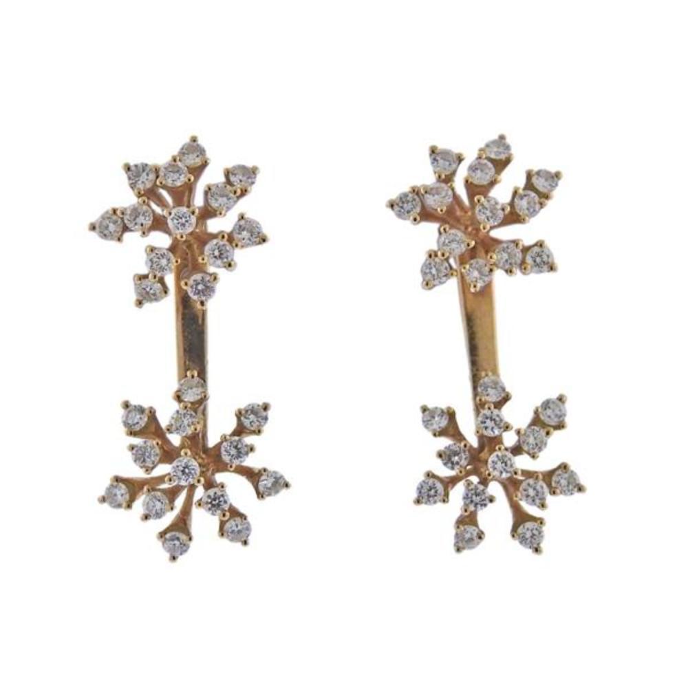 Hueb Luminous 18K Gold Diamond Day & Night Earrings
