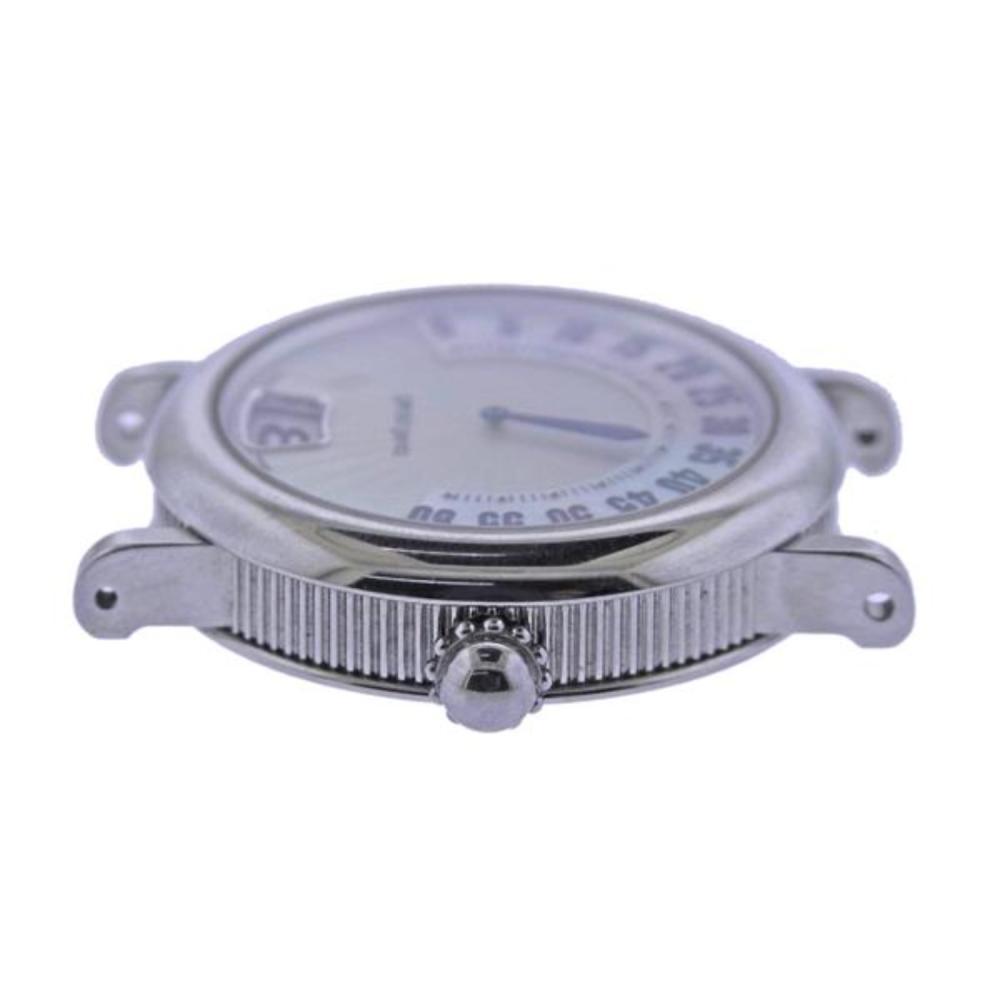 Gerald Genta Retro Classic Jumping Hour Retrograde Minute Watch G.3634