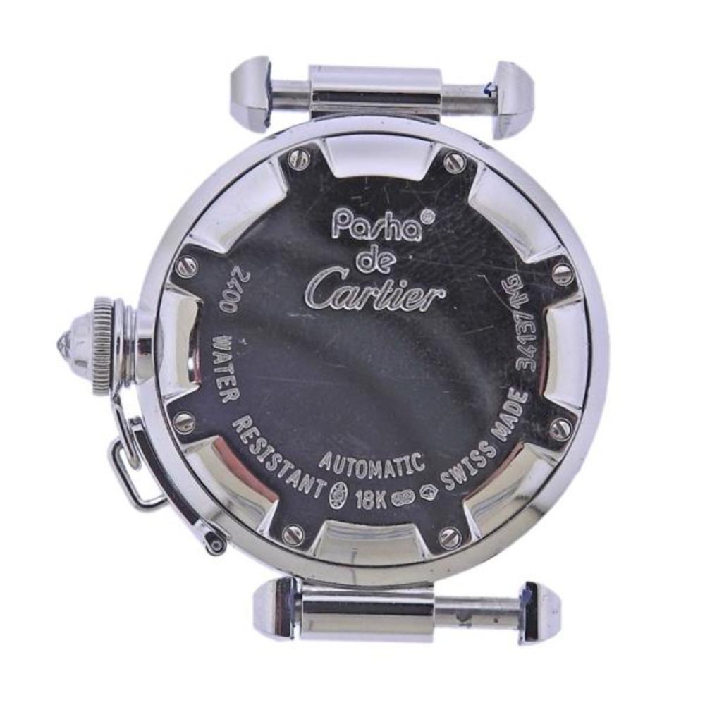 Cartier Pasha 18k Gold Diamond Watch 2400
