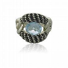 Michael Dawkins Sterling Blue Stone Ring