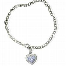 Juidth Ripka Sterling Purple Stone Heart Necklace
