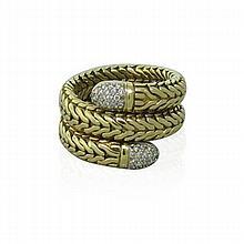 John Hardy 18k Gold Diamond Wrap Ring