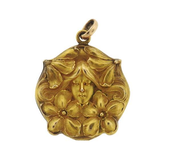 Iconic Art Nouveau  Locket Pendant