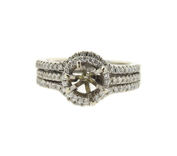 14k Gold Diamond Engagement Ring Mounting